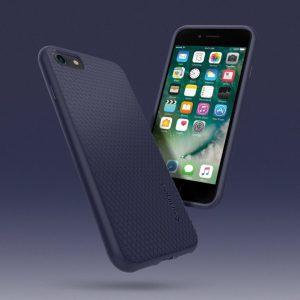 Чехол Spigen Liquid Air Armor Midnight Blue для iPhone SE 2020 / 8 / 7