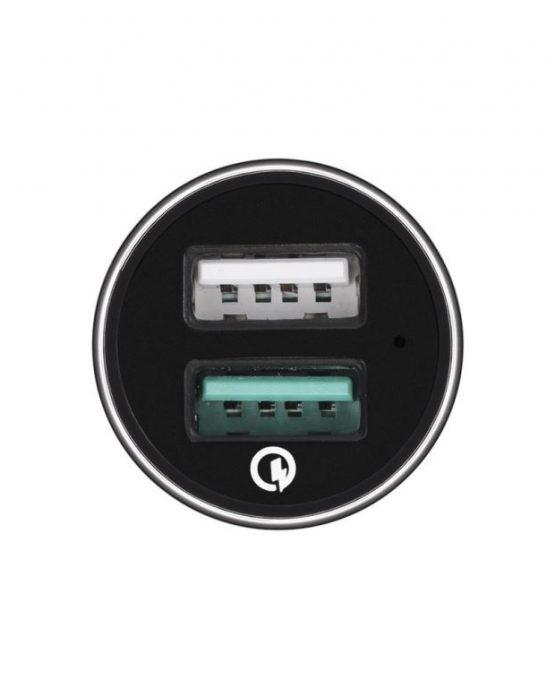 Автозарядка Spigen с двумя USB-портами F27QC