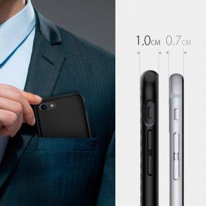 Чехол Spigen Liquid Air Armor Black для iPhone SE 2020 / 8 / 7