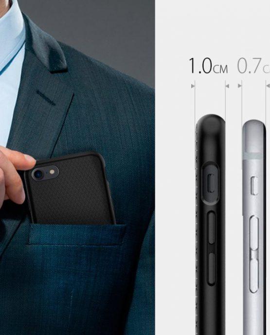 Чехол Spigen liquid Air Armor Black для iPhone 7 / 8