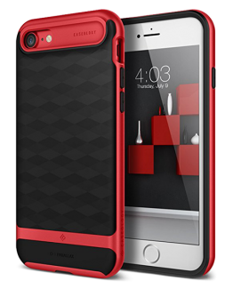 Чехол для iPhone SE 2020 / 8 / 7 Caseology Parallax Black Red