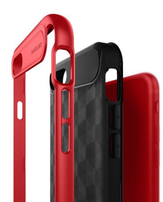 Чехол для iPhone SE 2020 / 8 / 7 Caseology Parallax Black Red