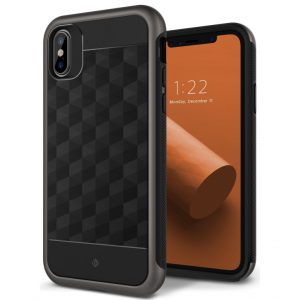 Чехол для iPhone XS/X Caseology Parallax Black/Warm Gray Айфон X