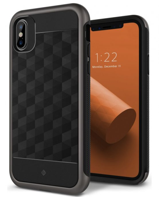 Чехол для iPhone XS/X Caseology Parallax Black/Warm Gray Айфон X