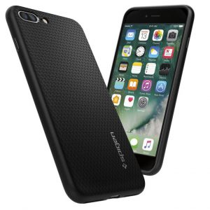Чехол Spigen Liquid Air Armor Black для iPhone 7 Plus / 8 Plus