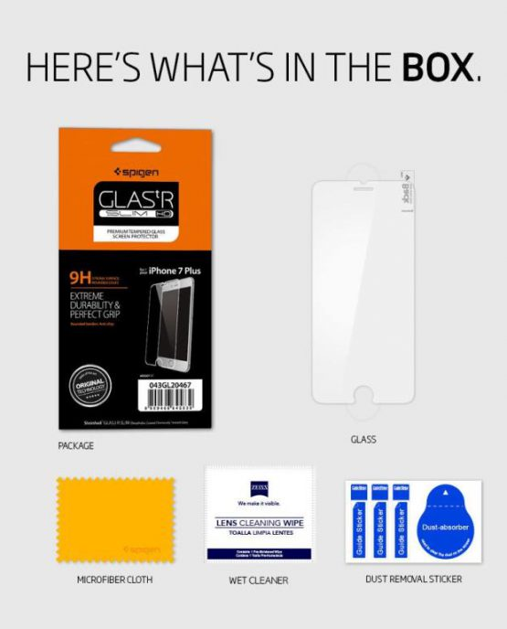 Защитное стекло Spigen GLAS.tR SLIM HD для Plus 8 / 7 Plus 2 шт.