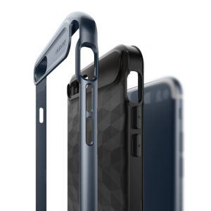 Чехол для iPhone 7 Plus / 8 Plus Caseology Parallax Black Deep Blue
