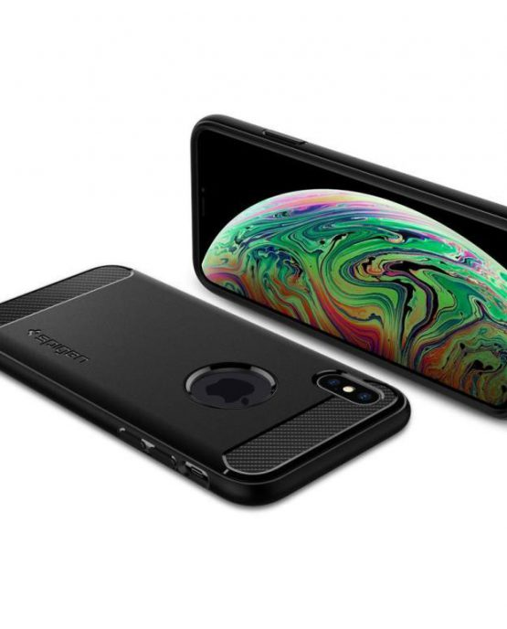 Чехол Spigen Rugged Armor Black для iPhone XS Max