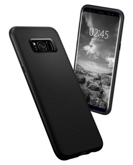 Чехол Spigen Liquid Air Armor Black для Samsung Galaxy S8