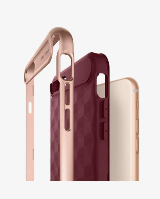 Чехол для iPhone 7 Plus / 8 Plus Caseology Parallax Burgundy
