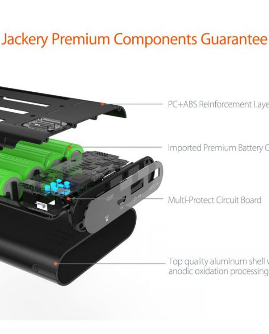Портативный внешний аккумулятор Jackery Giant + 12000 mAh