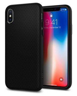 Чехол Spigen Liquid Air Armor Black для iPhone XS/X