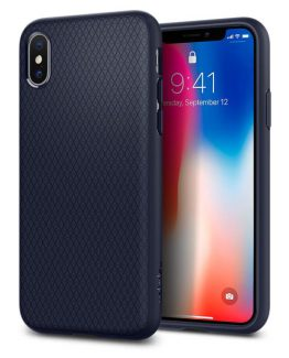 Чехол Spigen Liquid Air Armor Midnight Blue для iPhone XS/X