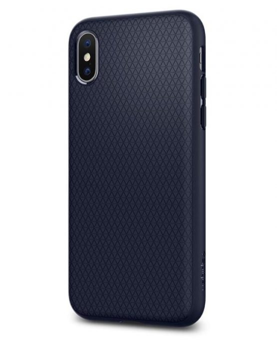 Чехол Spigen Liquid Air Armor Midnight Blue для iPhone XS/X