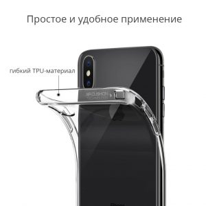 прозрачный чехол Spigen Liquid Crystal Crystal Clear для iPhone XS/X