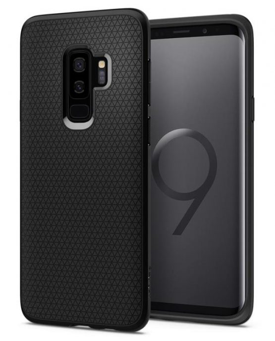 Чехол Spigen Liquid Air Armor Black для Samsung Galaxy S9 Plus