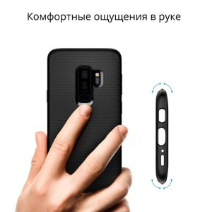 Чехол Spigen Liquid Air Armor Black для Samsung Galaxy S9 Plus
