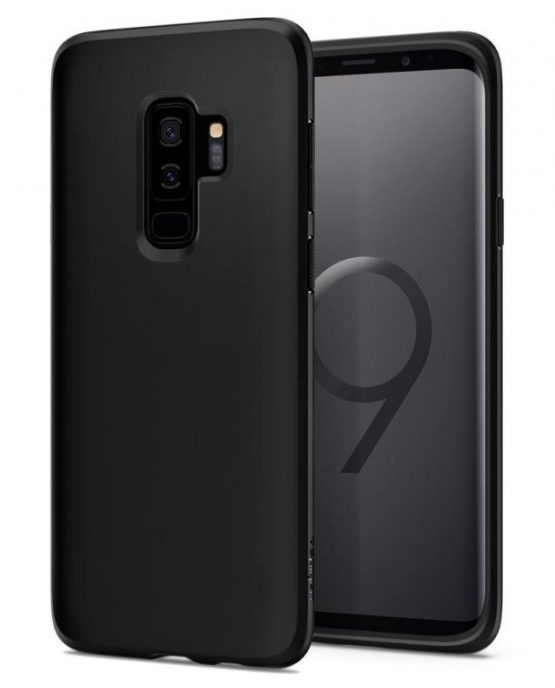 Чехол Spigen Liquid Crystal Matte Black для Samsung Galaxy S9 Plus
