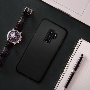 Чехол Spigen Liquid Crystal Matte Black для Samsung Galaxy S9 Plus