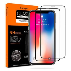 Защитное стекло Spigen GLAS.tR SLIM Full Cover для iPhone XS/X
