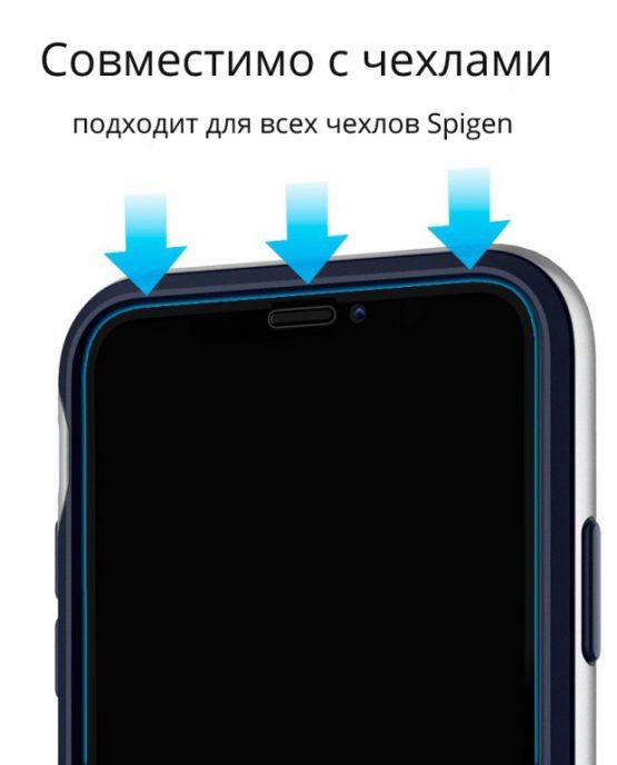 Защитное стекло Spigen GLAS.tR SLIM Full Cover для iPhone XS/X