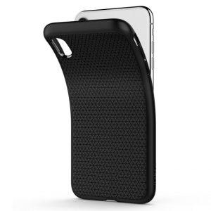 Чехол Spigen Liquid Air Armor Black для iPhone XS Max