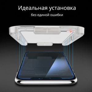 Защитное стекло Spigen EZ FIT GLAS.tR Full Cover для iPhone 11 Pro/XS/X