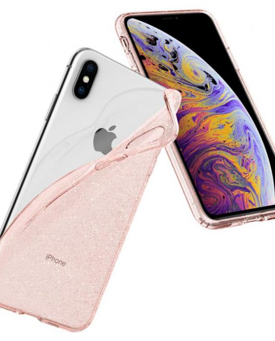 Чехол Spigen Liquid Crystal Glitter Rose Quartz для iPhone XS Max
