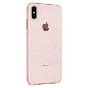 Чехол Spigen Liquid Crystal Glitter Rose Quartz для iPhone XS Max