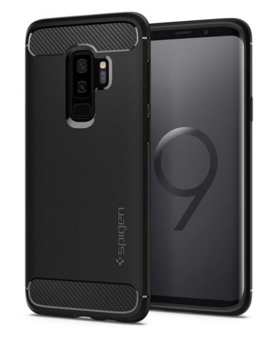Чехол Spigen Rugged Armor Matte Black для Samsung Galaxy S9 Plus