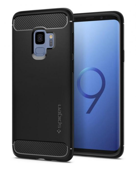 Чехол Spigen Rugged Armor Matte Black для Samsung Galaxy S9