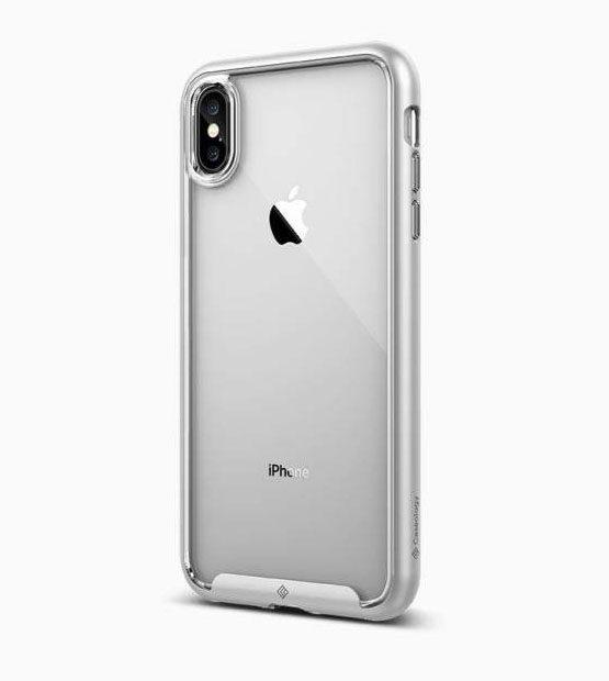 Чехол Caseology Skyfall Silver для iPhone XS Max