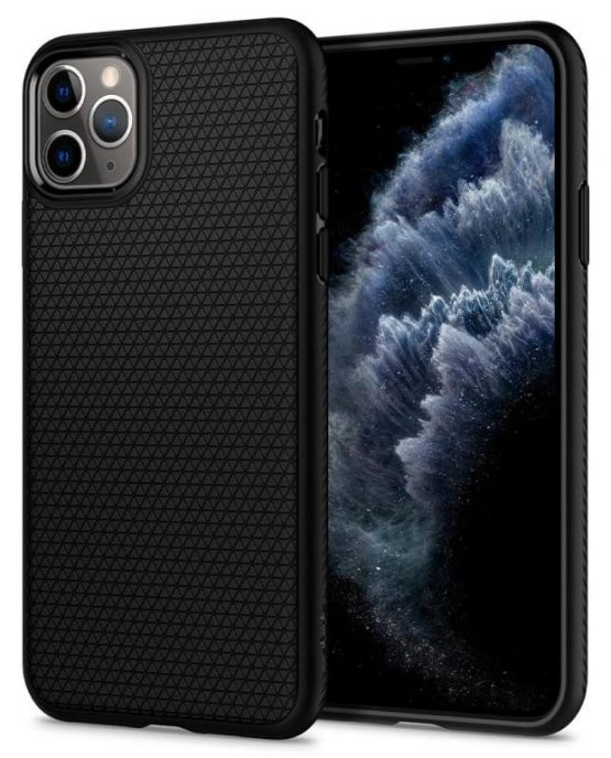 Чехол Spigen Liquid Air Matte Black для iPhone 11 Pro Max