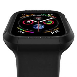 Чехол Spigen Rugged Armor Black для Apple Watch Series 5 / 4 (44mm)