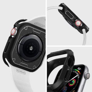 Чехол Spigen Rugged Armor Black для Apple Watch Series 5 / 4 (44mm)