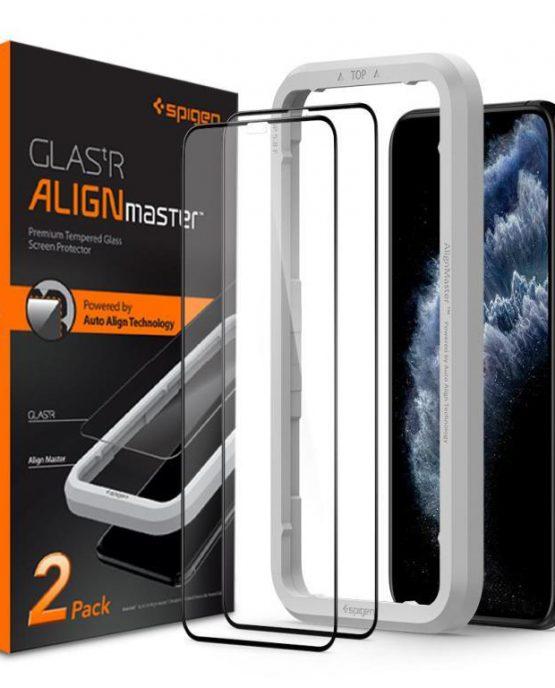 Защитное стекло Spigen AlignMaster GLAS.tR для iPhone 11 Pro/XS/X