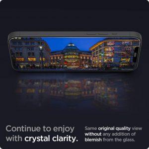 Защитное стекло Spigen Screen Protector Glas.tR EZ FIT для iPhone 12 / iPhone 12 Pro