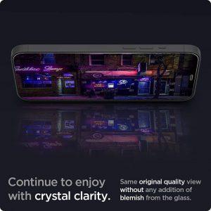 Защитное стекло Spigen Screen Protector Glas.tR EZ FIT для iPhone 12 Pro Max sensor protection