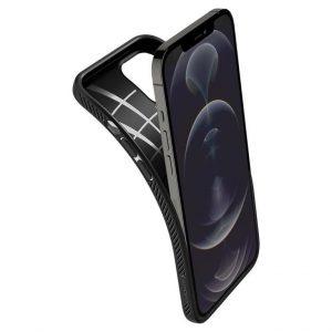 Чехол Spigen Liquid Air Matte Black для iPhone 12 Pro Max
