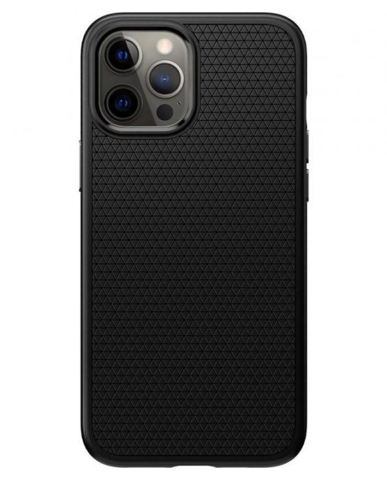 Чехол Spigen Liquid Air Matte Black для iPhone 12 Pro Max