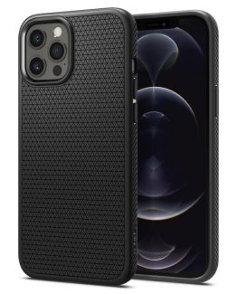 Чехол Spigen Liquid Air Matte Black для iPhone 12 / 12 Pro