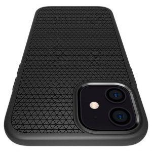 Чехол Spigen Liquid Air Matte Black для iPhone 12 / 12 Pro