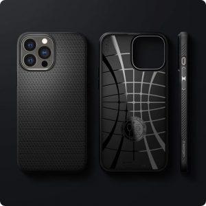 Чехол Spigen Liquid Air Matte Black для iPhone 13 Pro Max