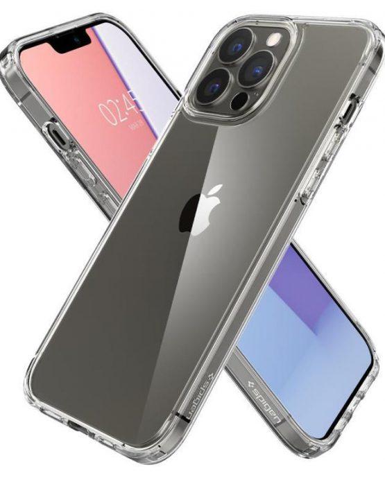 1Чехол Spigen Ultra Hybrid Crystal Clear для iPhone 13 Pro